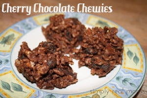 25 Days of Holiday Treats: Easy Cherry Chocolate Chewies 1