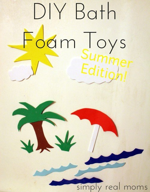 DIY Bath Foam Toys Summer Edition 500x639 Simply Made Sunday: Last Minute Homemade Gifts