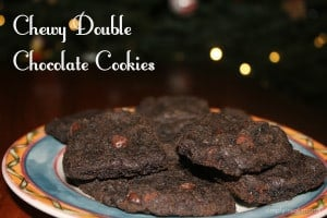 25 Days of Holiday Treats: Chewy Double Chocolate Cookies 1