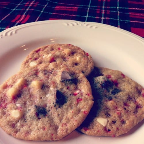 25 Days of Holiday Treats: Peppermint Bark Cookies 2