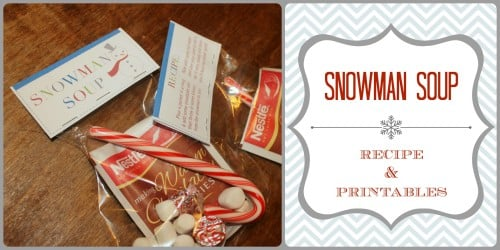 picture regarding Snowman Soup Printable called 25 Times of Vacation Snacks: Snowman Soup