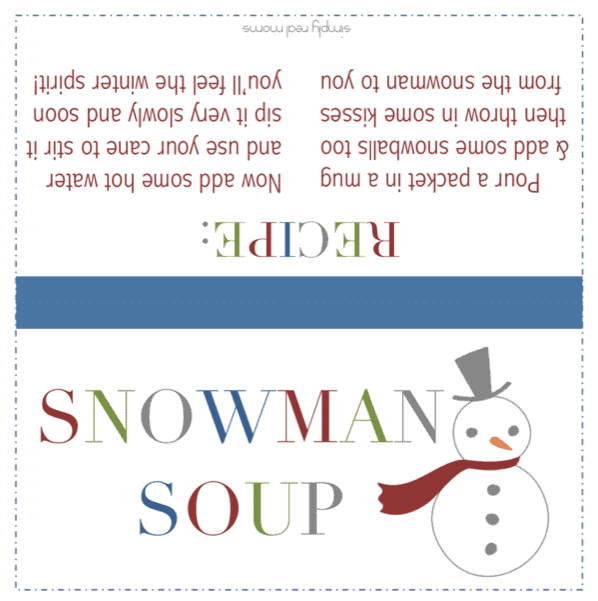 25 Days Of Holiday Treats Snowman Soup