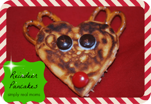 25 Days of Holiday Treats: Reindeer Pancakes! 3