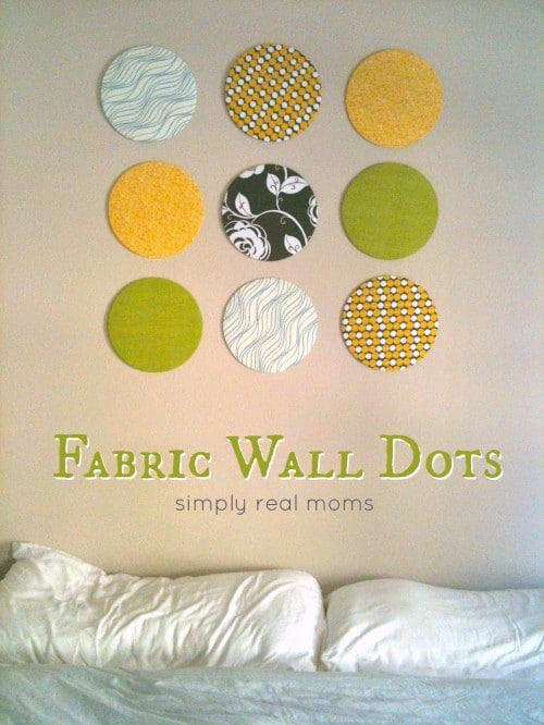 Simply Made Sunday: Fabric Wall Dots