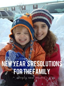 New Year's Resolutions for the Family 1