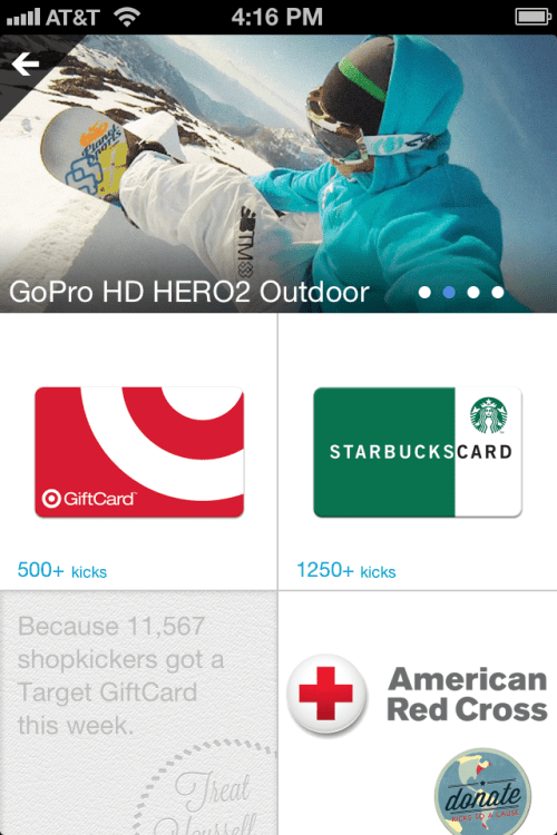 Shopkick is the ultimate shopping rewards app!
