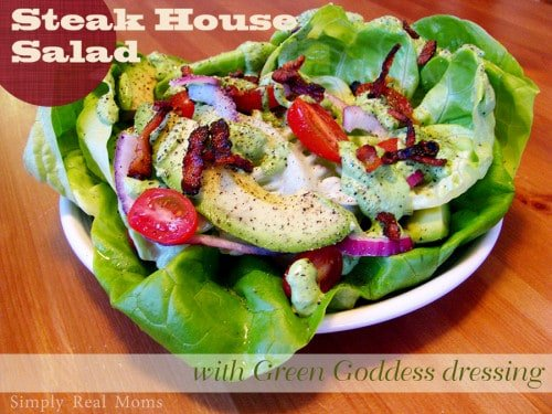 Steak House Salad with Green Goddess Dressing