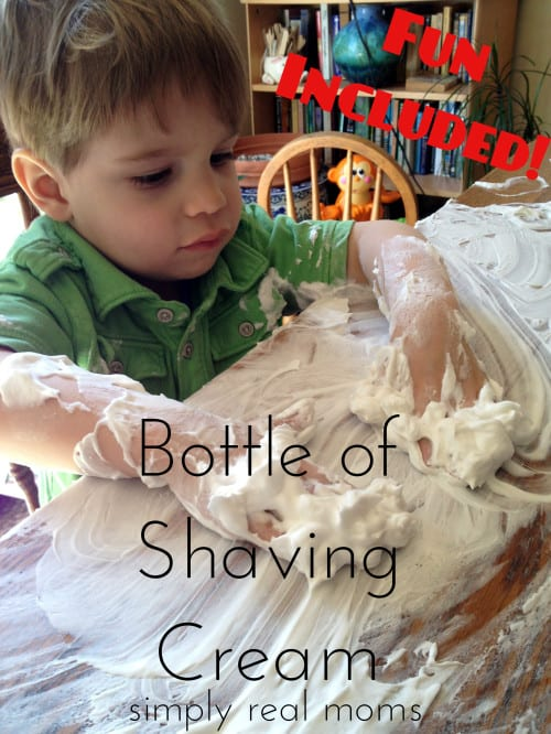 Bottle of Shaving Cream-Fun Included-hours of fun in one bottle of shaving cream