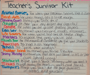 Back-to-School Teacher's Survivor Kit 1
