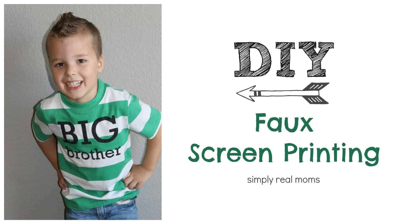 Simply Made Sunday Faux Screen Printing