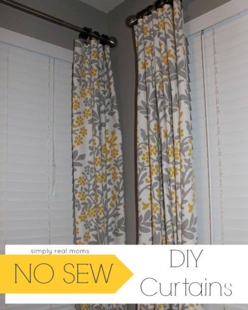 Diy Curtain Ideas No Sew Best Accessories Home 2017