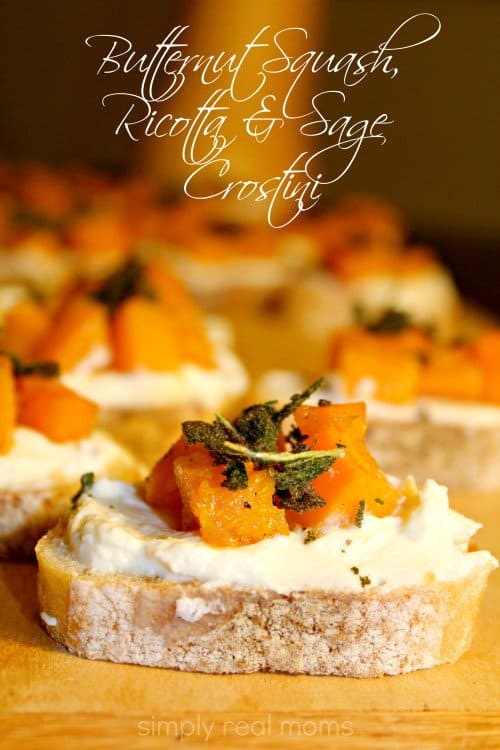 Butternut Squash, Ricotta and Sage Crostini