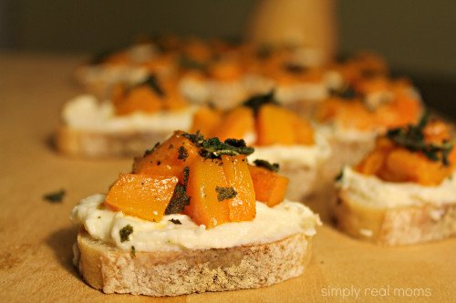 Butternut Squash, Ricotta and Sage Crostini - Simply Real Moms