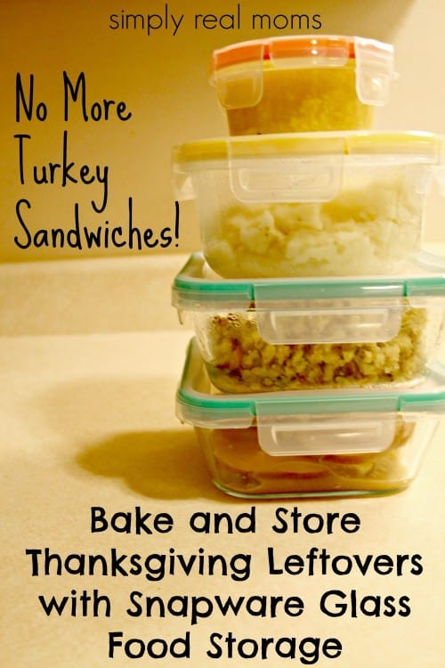 Bake and store thanksgiving leftovers with snapware from pyrex
