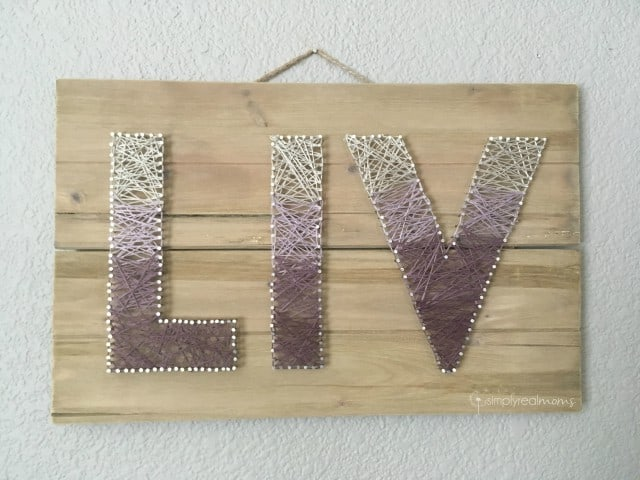 Simply Made Sunday Name String Art