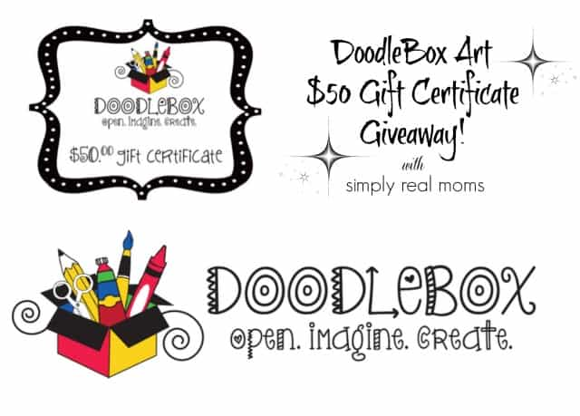 DoodleBox Art $50 Gift Certificate Giveaway