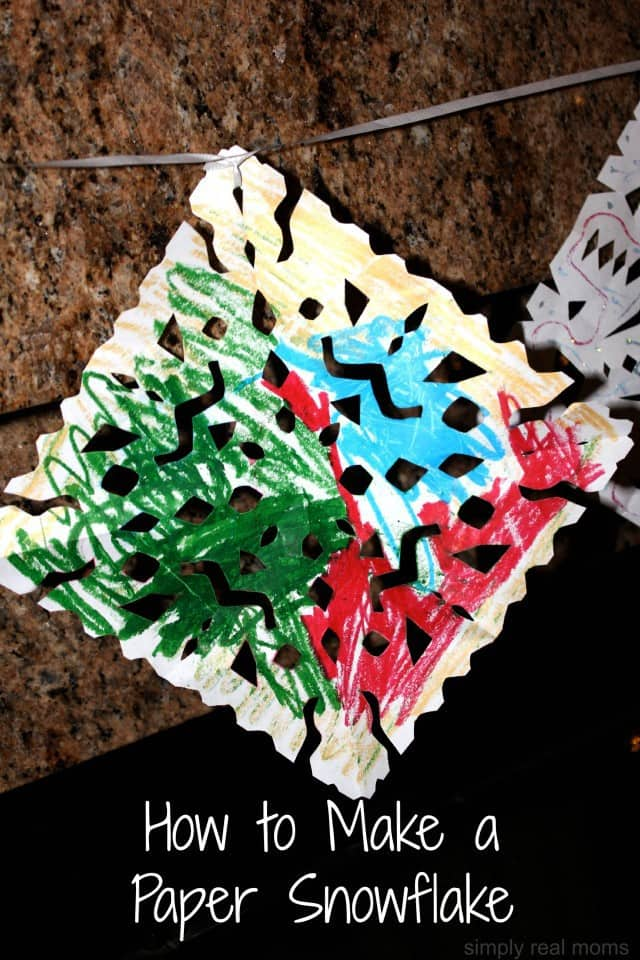 Creating a winter wonderland with crayola for How to make a real paper snowflake