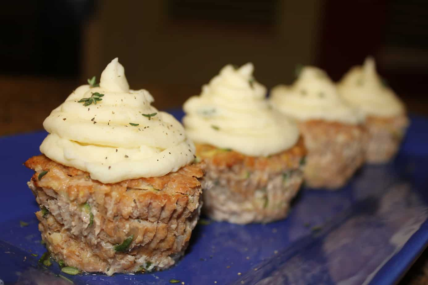 Turkey Meatloaf Cupcakes With Mashed Potato Frosting 2
