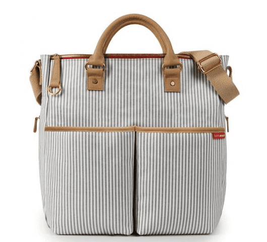 skiphop duo french stripe diaper bag