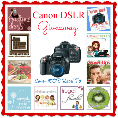 Canon EOS Rebel T3 Digital SLR Camera Giveaway 1