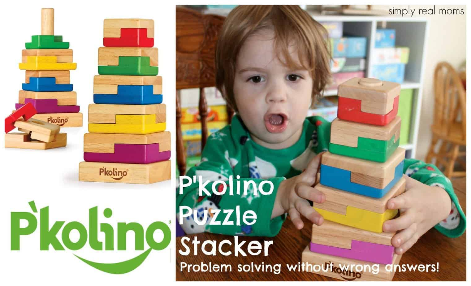 P'kolino Puzzle Stacker-Problem solving without wrong answers! 1