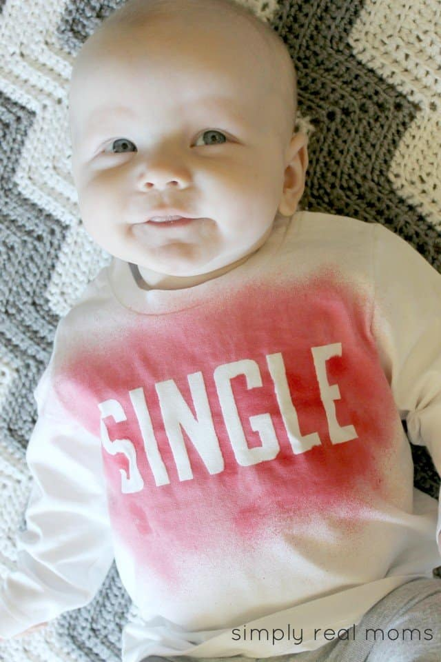 DIY Baby V-Day Shirt