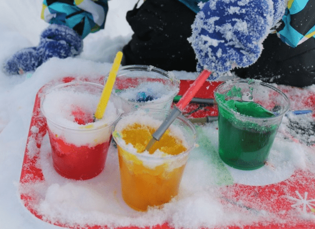 Snow Paint-a rainbow of activities to do with color in the snow 5
