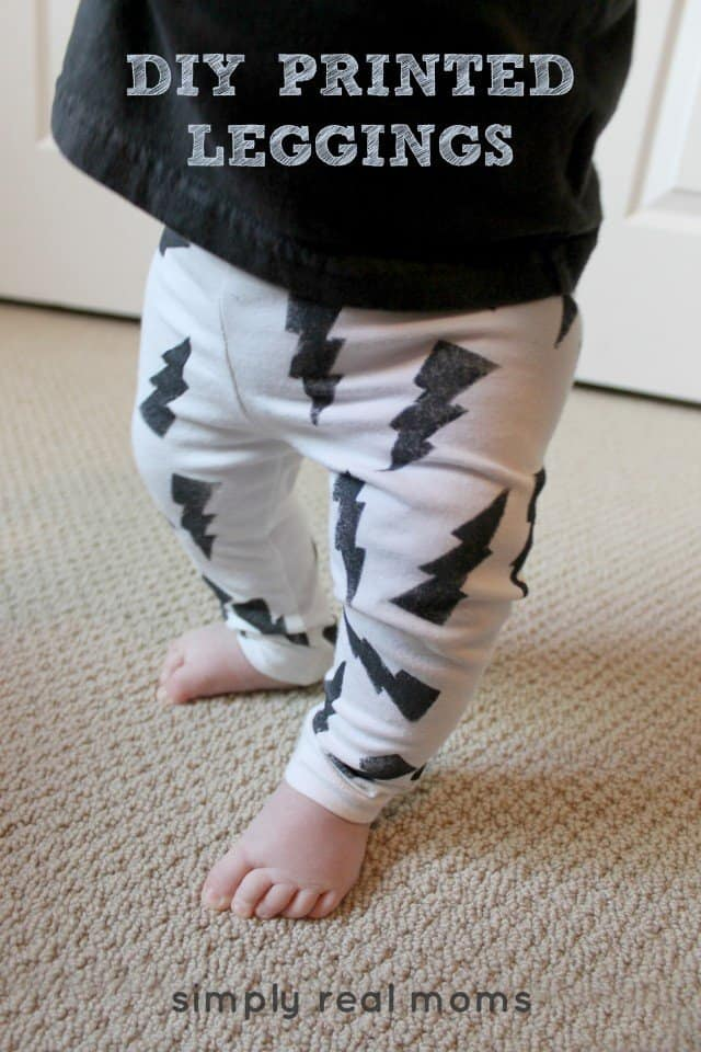 Simply Made DIY Printed Leggings