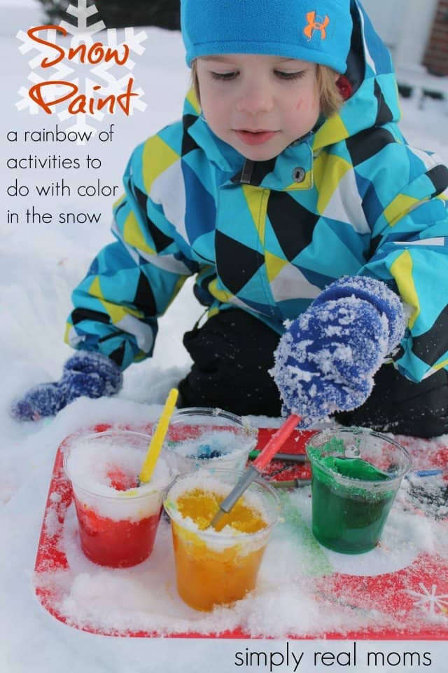 Snow Paint-a rainbow of activities to do with color in the snow
