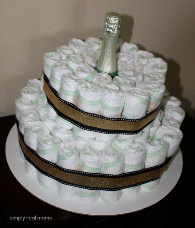 2 Layers Diaper Cake