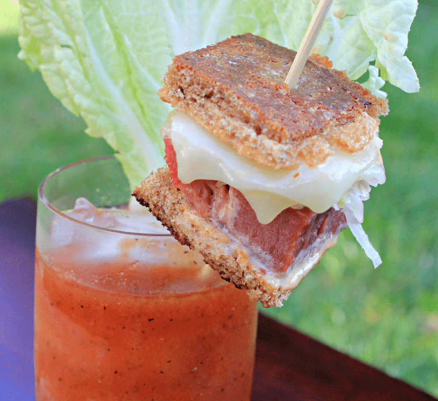 "Sriracha ""Blarney"" Mary With Mini Reuben Slider 4"