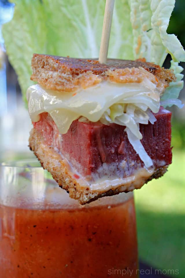 Bloody Mary with Mini Reuben Slider