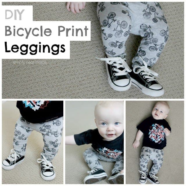 DIY Printed Leggings with Bikes