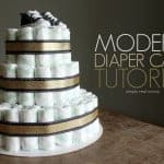 Modern Diaper Cake Tutorial