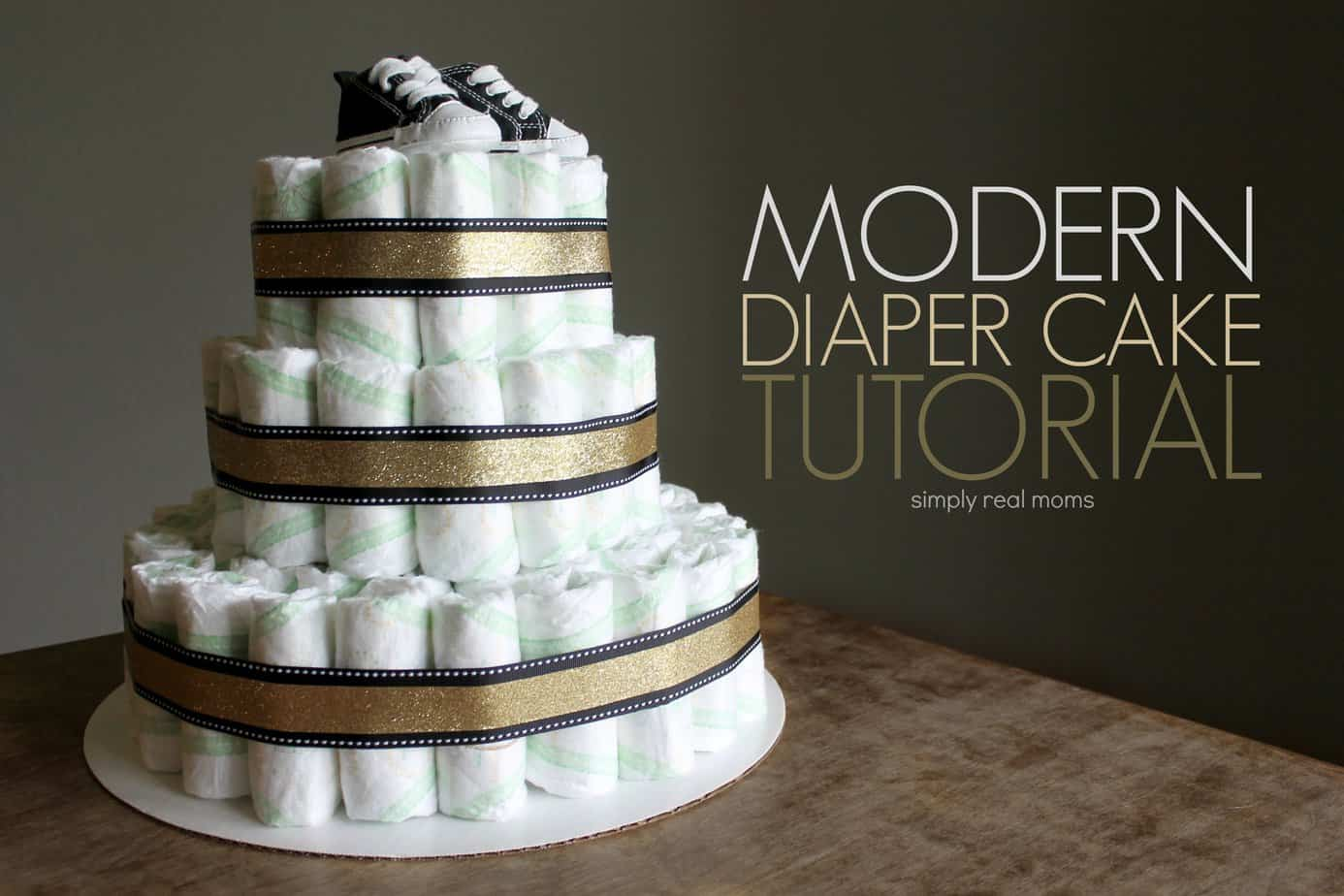 Modern Diaper Cake Tutorial 5