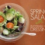 Healthy Spring Salad With Buttermilk Herb Dressing