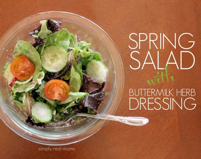 Spring Salad with Buttermilk Herb Dressing