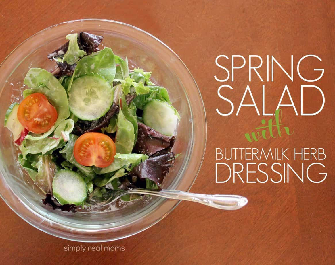 Healthy Spring Salad With Buttermilk Herb Dressing 4