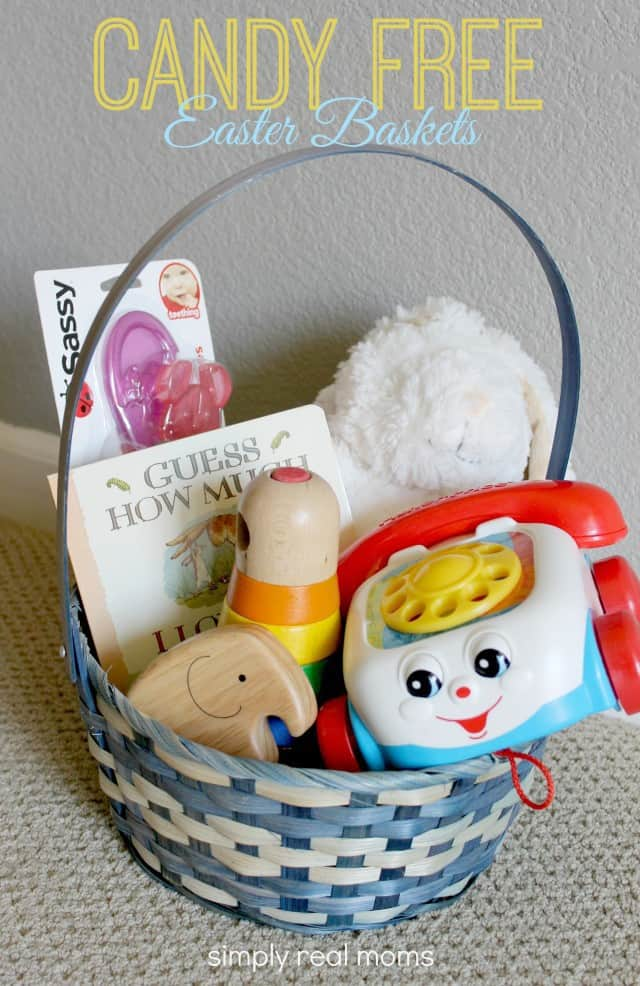 Great candy free easter basket ideas for your kids simply real moms candy free easter baskets negle Image collections