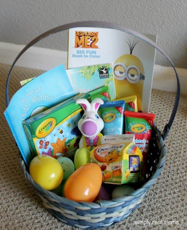 Great candy free easter basket ideas for your kids simply real moms candy free kids easter baskets negle Images