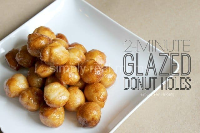 Two Minute Glazed Donut Holes 4
