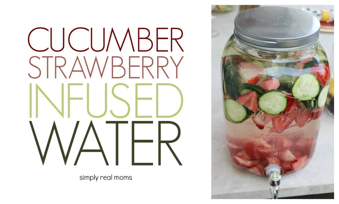 Cucumber Strawberry Infused Water