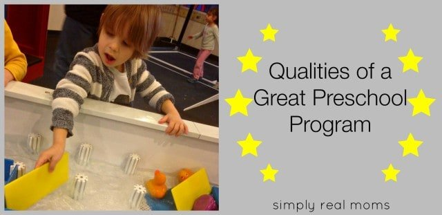 Qualities of a Great Preschool Program
