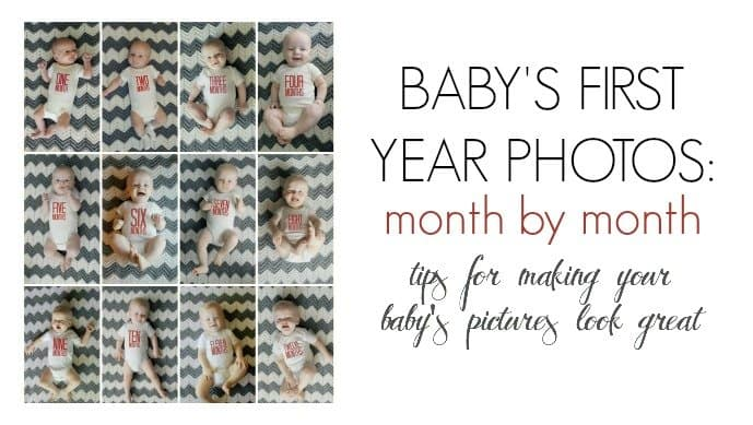 Baby's First Year Photos: Month By Month 1