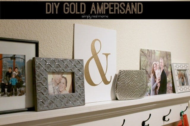 DIY Gold Ampersand