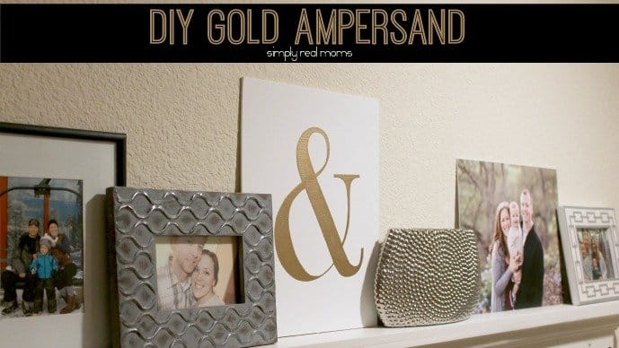 Simply Made: DIY Gold Ampersand 9