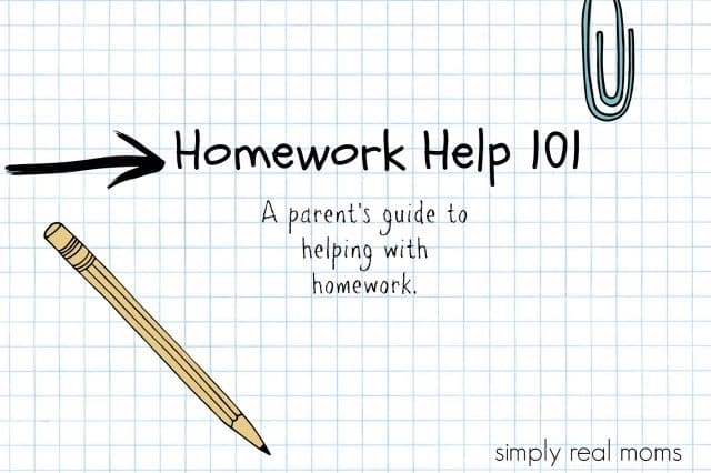 Homework Help 101 A parent's guide to helping with homework