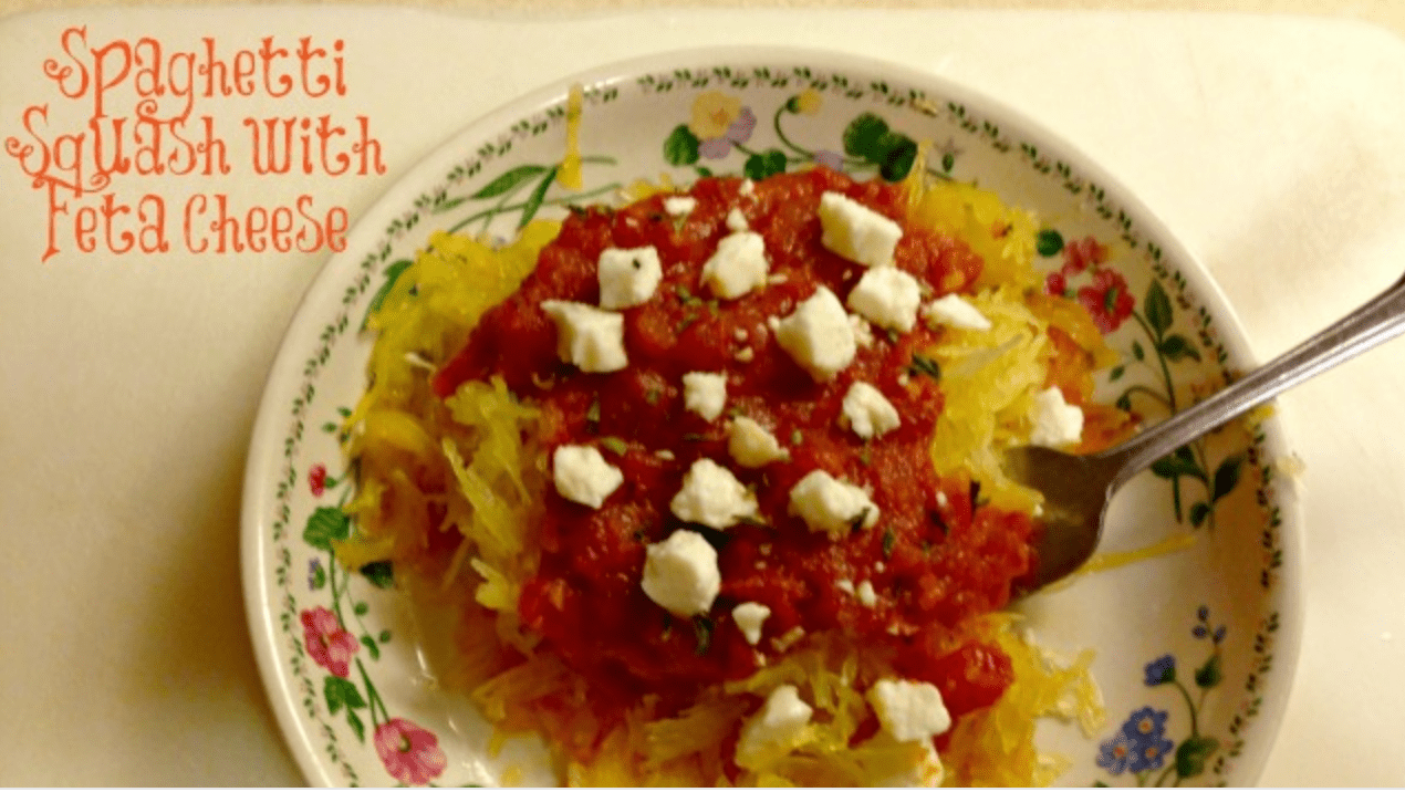 Spaghetti Squash with Feta Cheese 2