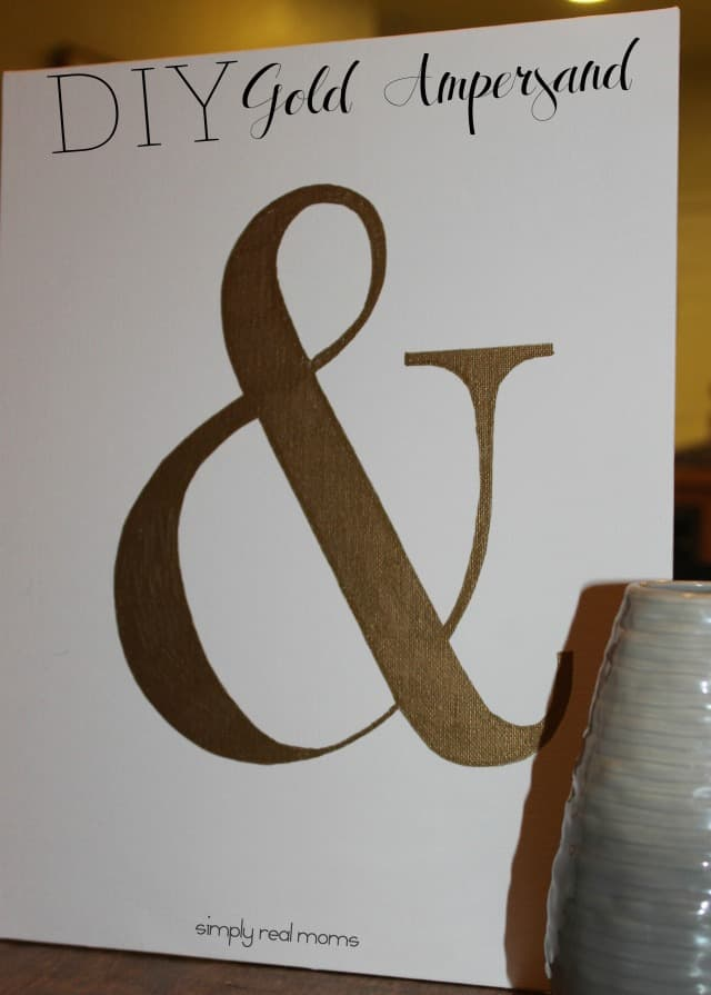Simply Made DIY Gold Ampersand