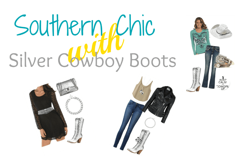 Southern Chic With Silver Cowboy Boots 2